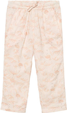 Mini A Ture Noa Noa Miniature Pink Tint Mini Voile Printed Trousers