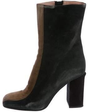 Marni Suede Square-Toe Boots
