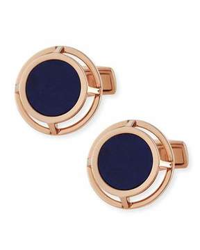 Dunhill Lapis Wire-Frame Cuff Links, Gold