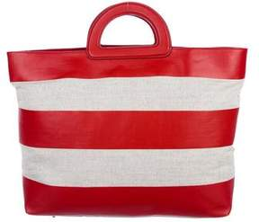 Burberry Leather & Canvas Medium Canbera Tote