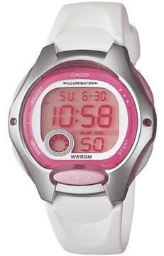Casio Women's Digital Sport Watch, White Resin Strap