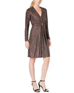 Calvin Klein Women's Metallic Glitter Dress (8, Black/Multi)