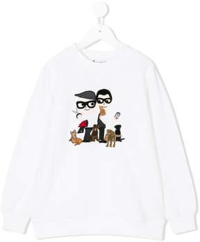 Dolce & Gabbana Familia embroidered sweatshirt
