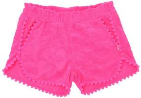 Billieblush Terrycloth Shorts With Pompom Trim