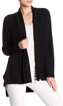 Cable & Gauge Open Front Solid Cardigan