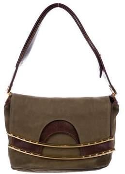Hayward Nubuck Fold-Over Bag
