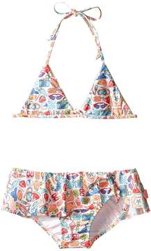Seafolly Seaside Lane Triangle Bikini (Infant/Toddler/Little Kids)