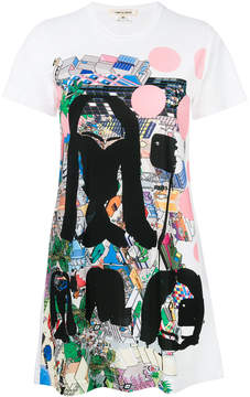 Comme des Garcons printed longline T-shirt