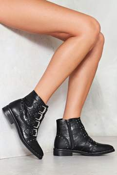 Nasty Gal You're a Hardware to Please Buckle Boot