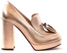 Pinko Women's Gold Leather Heels.