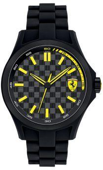 Ferrari Pit Crew Stainless Steel Watch