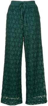 Muveil printed wide leg trousers