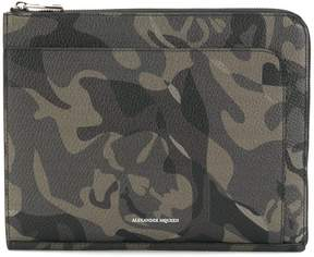 Alexander McQueen military printed clutch