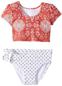 O Fiona Sleeved Crop Top Set (Toddler/Little Kids)