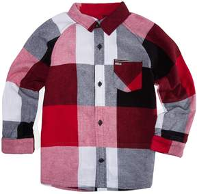 Hurley Boys 4-7 Flannel Plaid Button Down Shirt