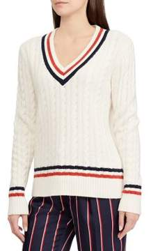 Cream Relaxed Fit long sleeve sweater