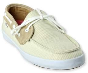 Vans Womens Chauffette Natural Stripes Comfort Boat Shoes tanwhite 5.5