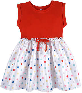Andy & Evan Girls' Red Dot T-Shirt Dress