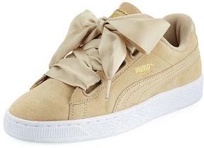 Puma Basket Heart Safari Suede Sneaker, Tan