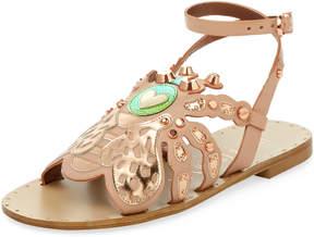 Ivy Kirzhner Women's Honey Leather Low Heel Sandal