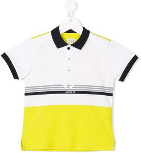 Emporio Armani Kids colour block polo shirt