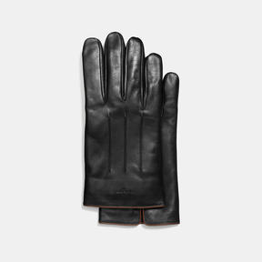 Coach Leather Touchscreen Gloves