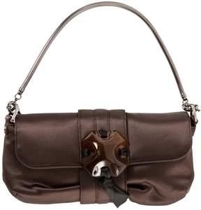 Lanvin Brown Cloth Clutch Bag