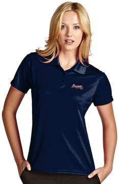 Antigua Women's Atlanta Braves Exceed Desert Dry Xtra-Lite Performance Polo