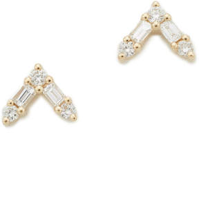 Ef Collection 14k Gold Diamond Stud Earrings
