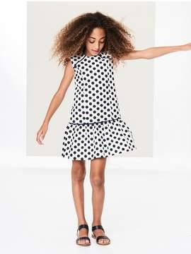 Oscar de la Renta Kids Kids | Dotted Tweed Drop-Waist Dress | 12 years