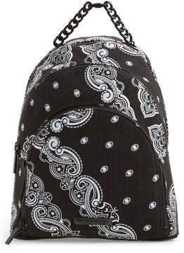 Kendall + Kylie Sloane Bandana Canvas Backpack - Black