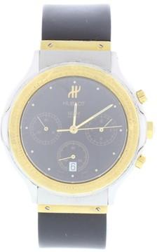 Hublot MDM 1621.2 18K Yellow Gold & Stainless Steel Black Dial Quartz 36mm Mens Watch