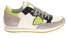 Philippe Model Men's White Leather Sneakers.