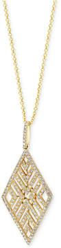 Effy D'Oro By Diamond Geometric Pendant Necklace (5/8 ct. t.w.) in 14k Gold