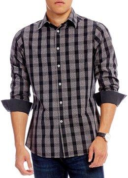 Daniel Cremieux Jeans Paisley & Check Pattern Long-Sleeve Woven Shirt