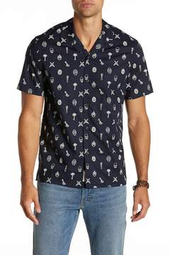 Lucky Brand Print Short Sleeve Regular Fit Shirt
