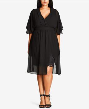 City Chic Trendy Plus Size Chiffon Dress