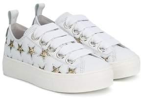 No.21 Kids glitter stars sneakers