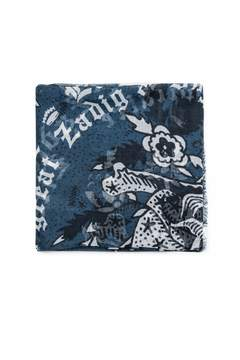 Zadig & Voltaire Merry Ribbon Skull Scarf