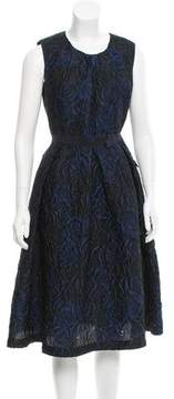 Mantu Rose-Patterned Jacquard Dress w/ Tags