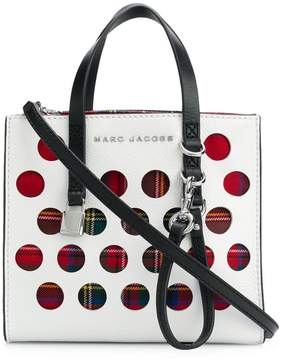 Marc Jacobs perforated tartan mini Grind bag