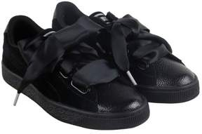 Puma Heart Bubble Black Womens Lace Up Sneakers