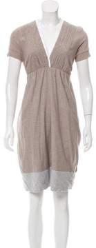 Brunello Cucinelli Short Sleeve Knee-Length Dress
