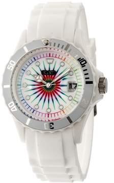 Crayo Shrine Multi-Colored Dial White Silicone Watch