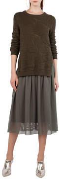 Akris Punto Mesh Lace A-Line Midi Skirt