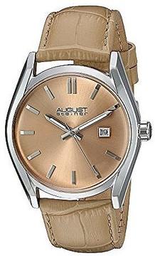 August Steiner Beige Dial Ladies Leather Watch