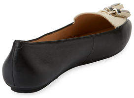 Karl Lagerfeld Paris Vanna Leather/Suede Loafer Flat