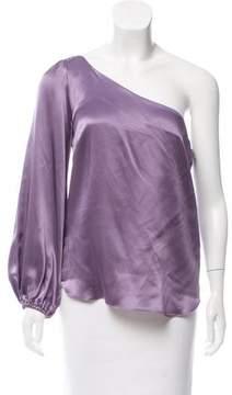 Amanda Uprichard Silk One-Shoulder Top w/ Tags