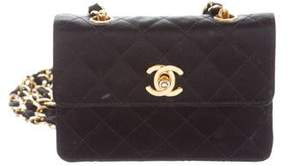 Chanel Quilted Satin CC Flap Bag