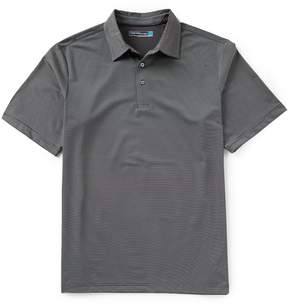 Roundtree & Yorke Performance Big & Tall Short-Sleeve Mini Stripe Polo